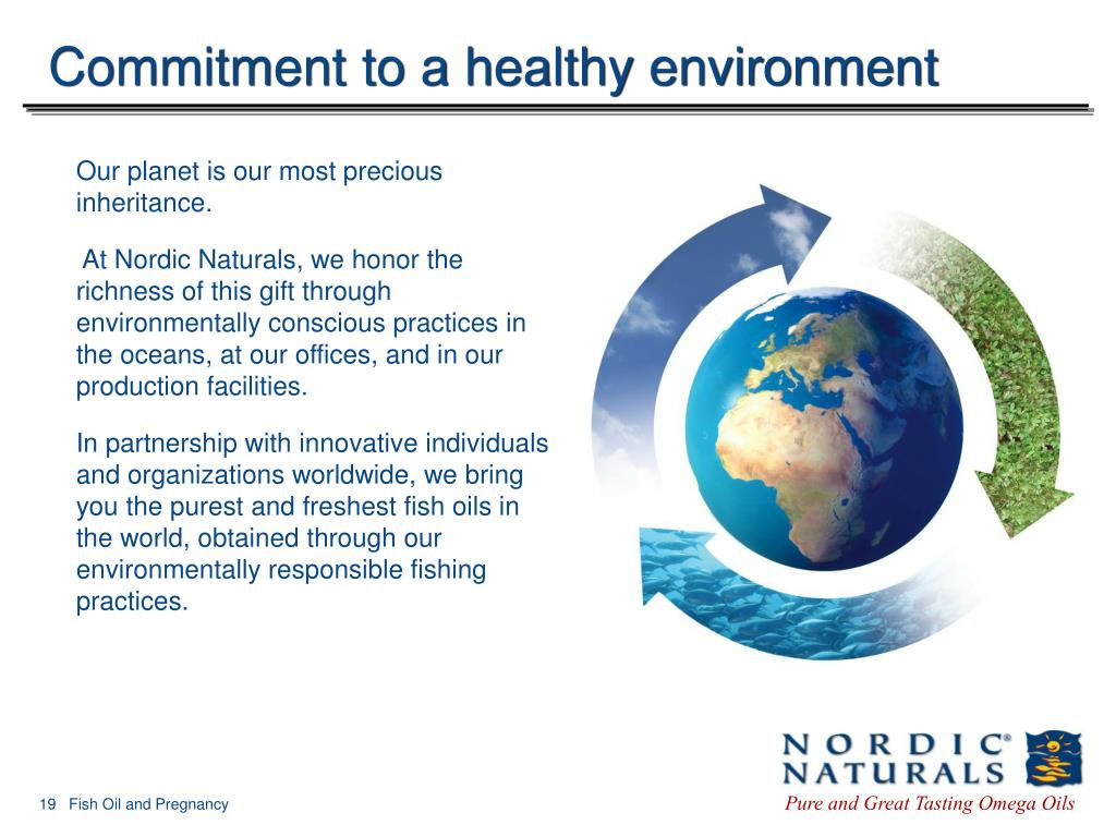 Commitment to a healthy environment