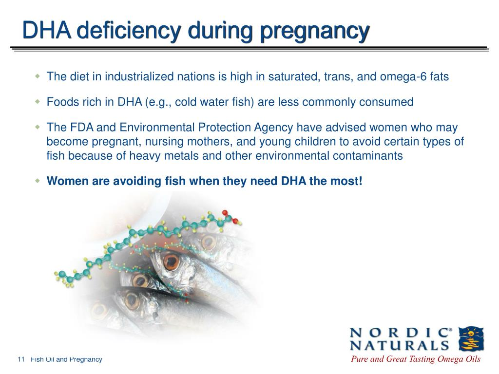 DHA deficiency during pregnancy