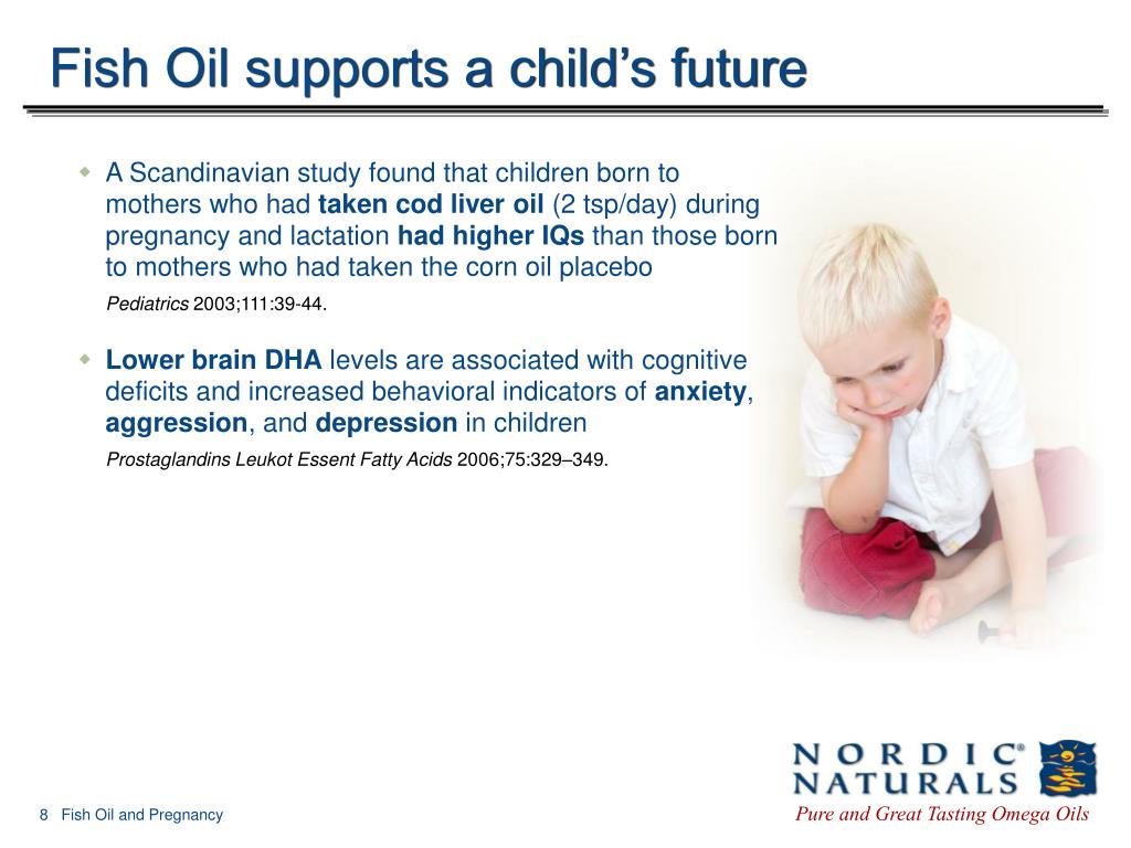 Fish Oil supports a child's future