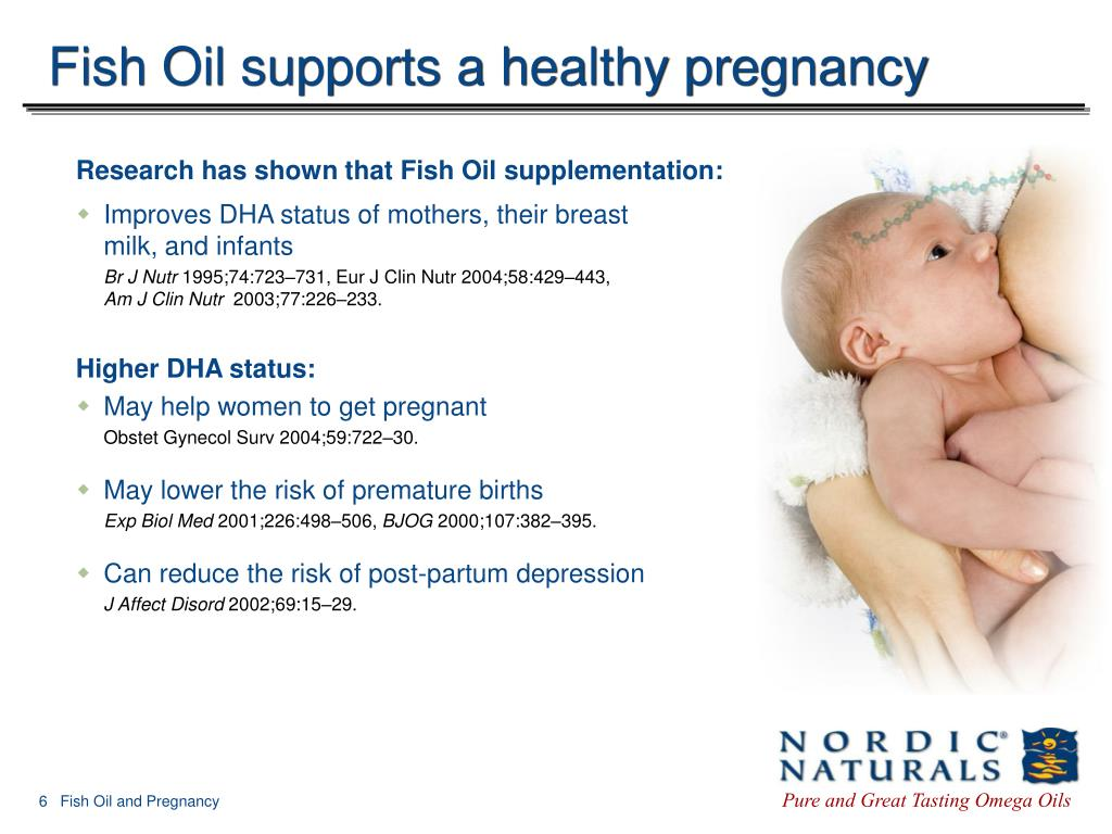 Fish Oil supports a healthy pregnancy