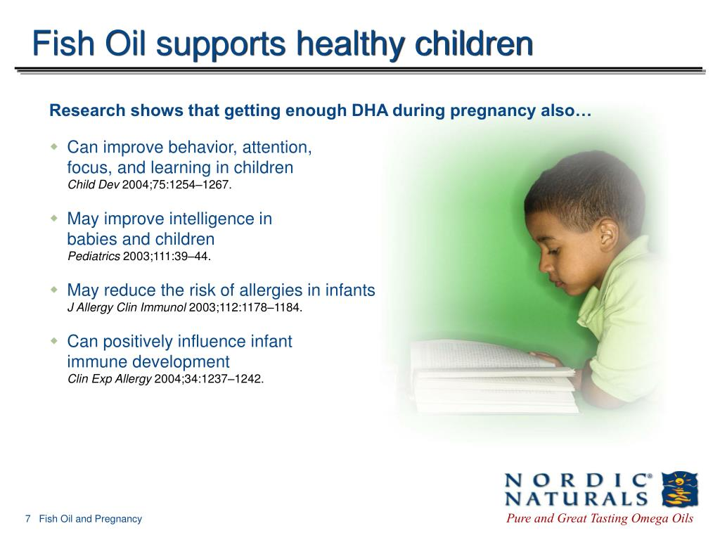 Fish Oil supports healthy children