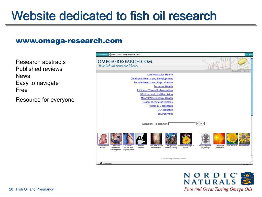 Website dedicated to fish oil research