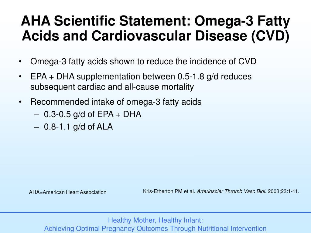 AHA Scientific Statement: Omega-3 Fatty