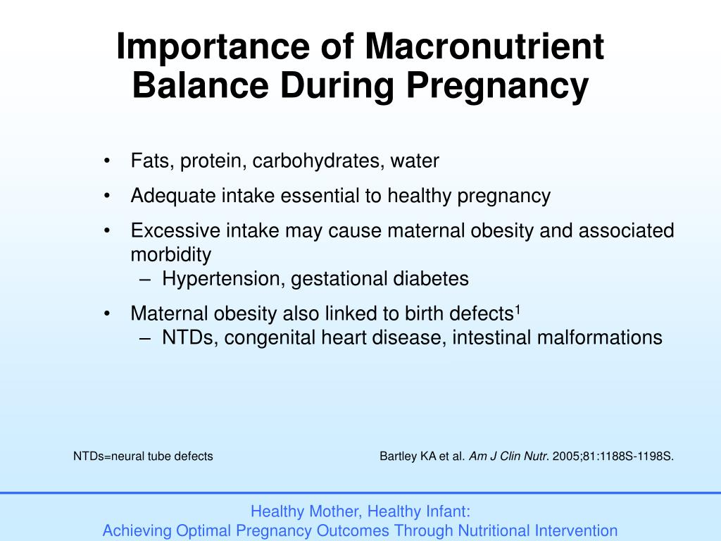 Importance of Macronutrient Balance During Pregnancy
