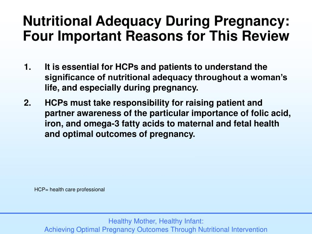 Nutritional Adequacy During Pregnancy: