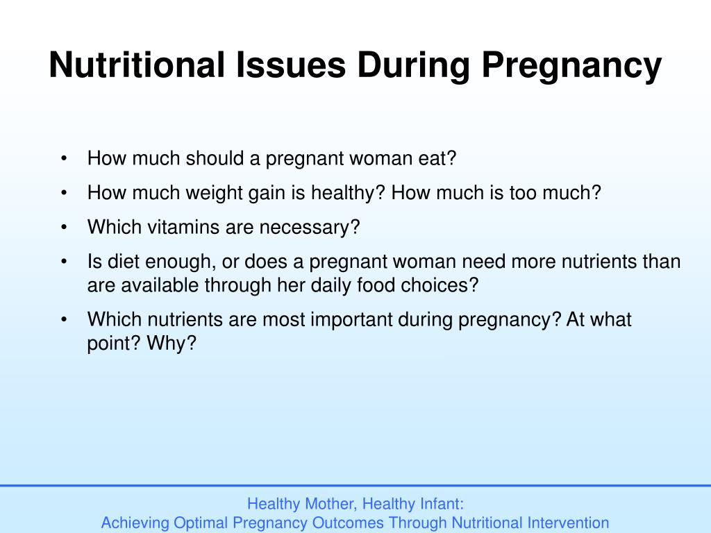 Nutritional Issues During Pregnancy