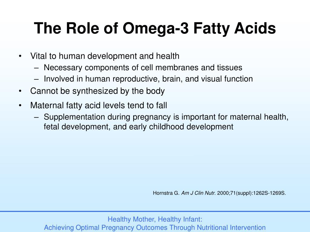 The Role of Omega-3 Fatty Acids