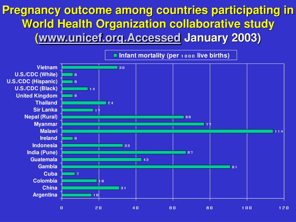 Pregnancy outcome among countries participating in World Health Organization collaborative study (