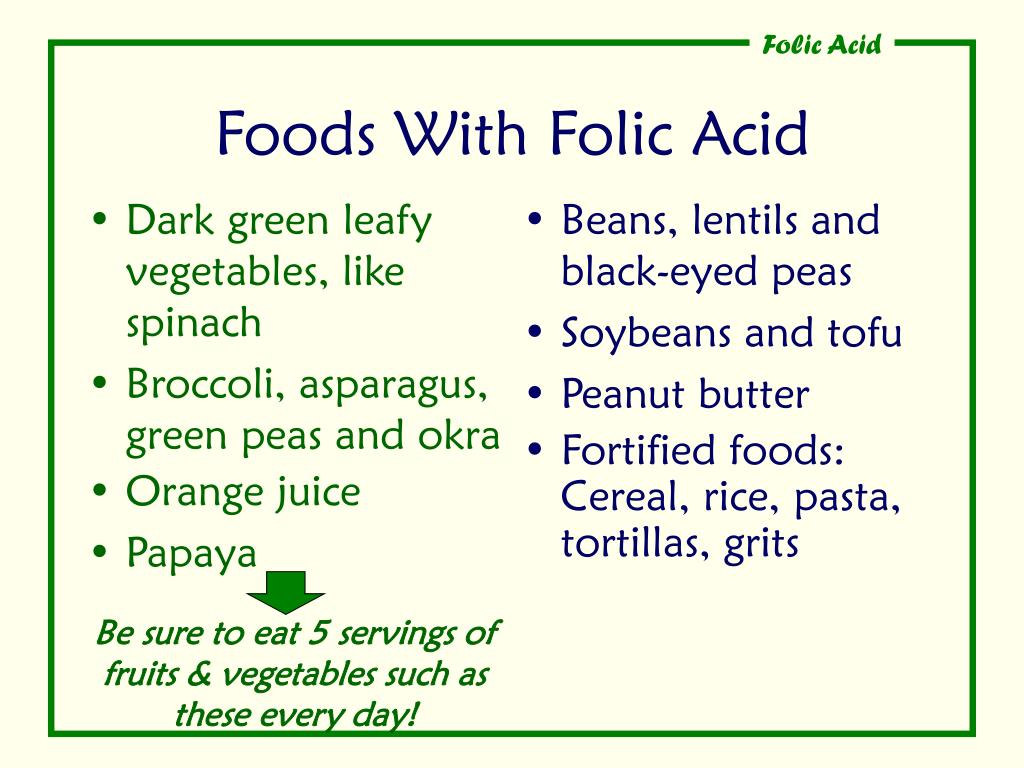 Foods With Folic Acid