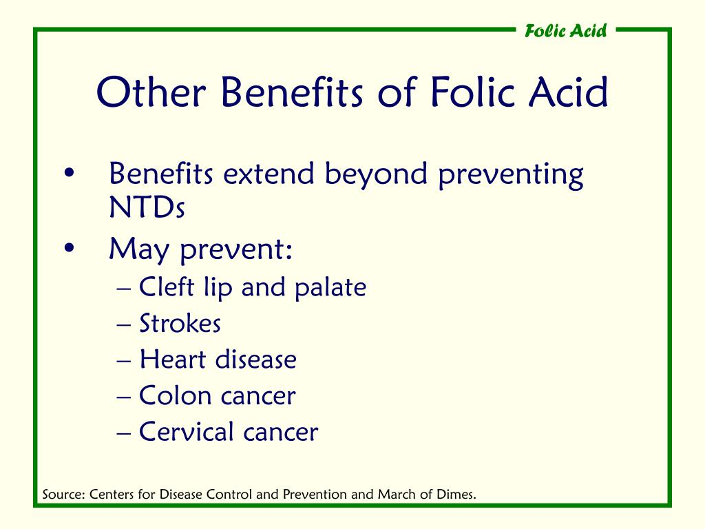Other Benefits of Folic Acid