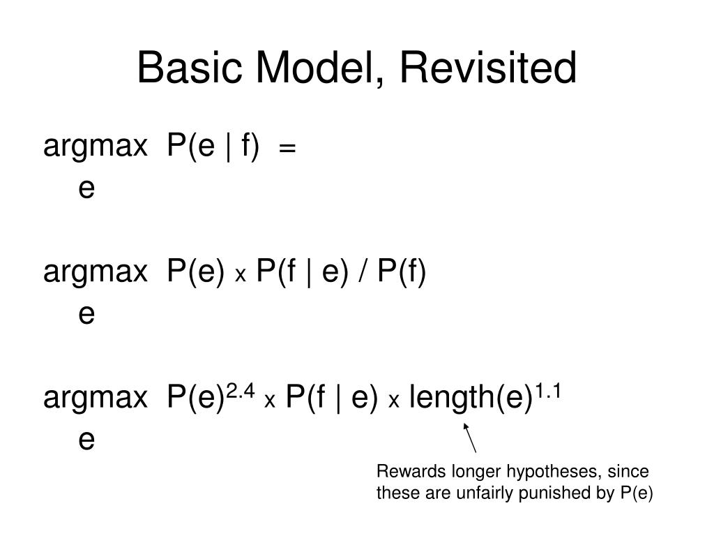 Basic Model, Revisited