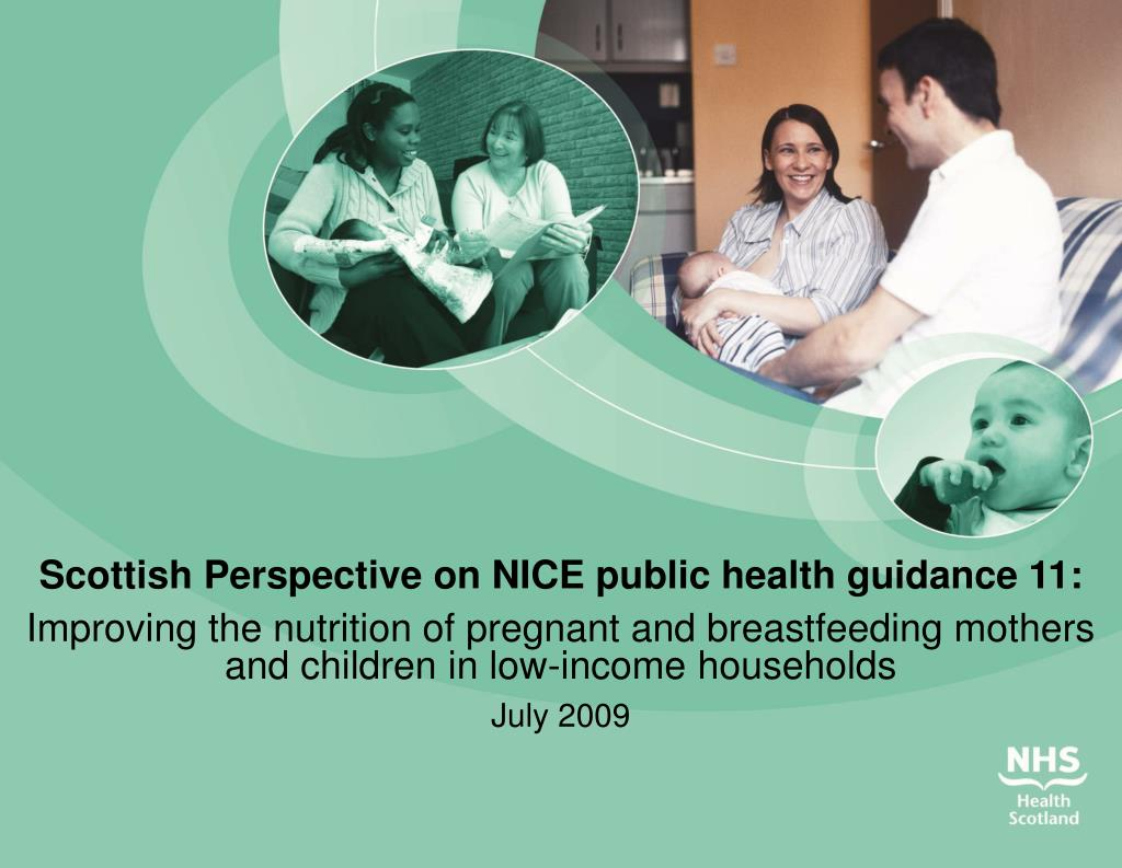 Scottish Perspective on NICE public health guidance 11: