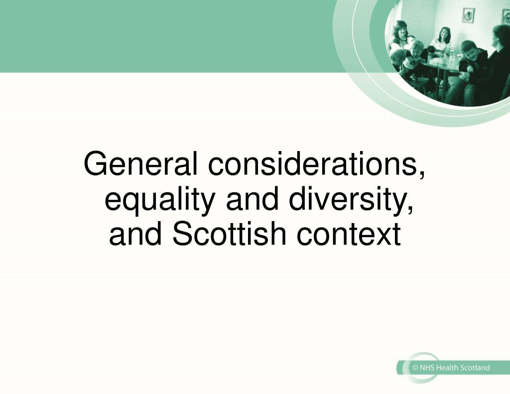 General considerations,