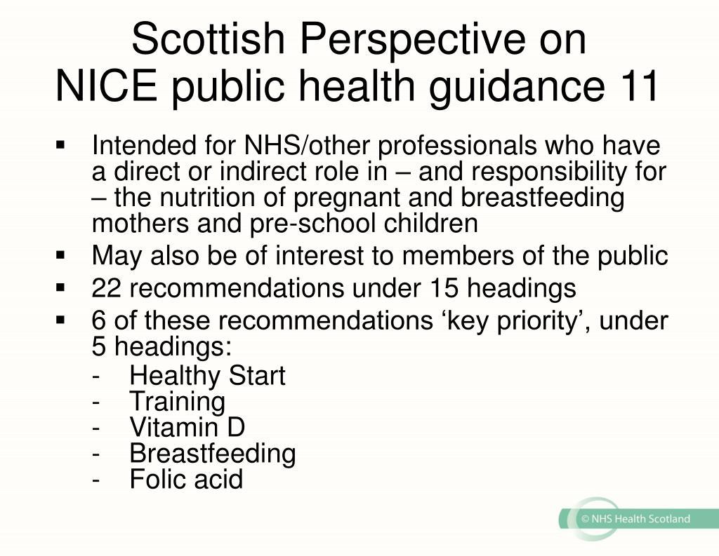 Scottish Perspective on