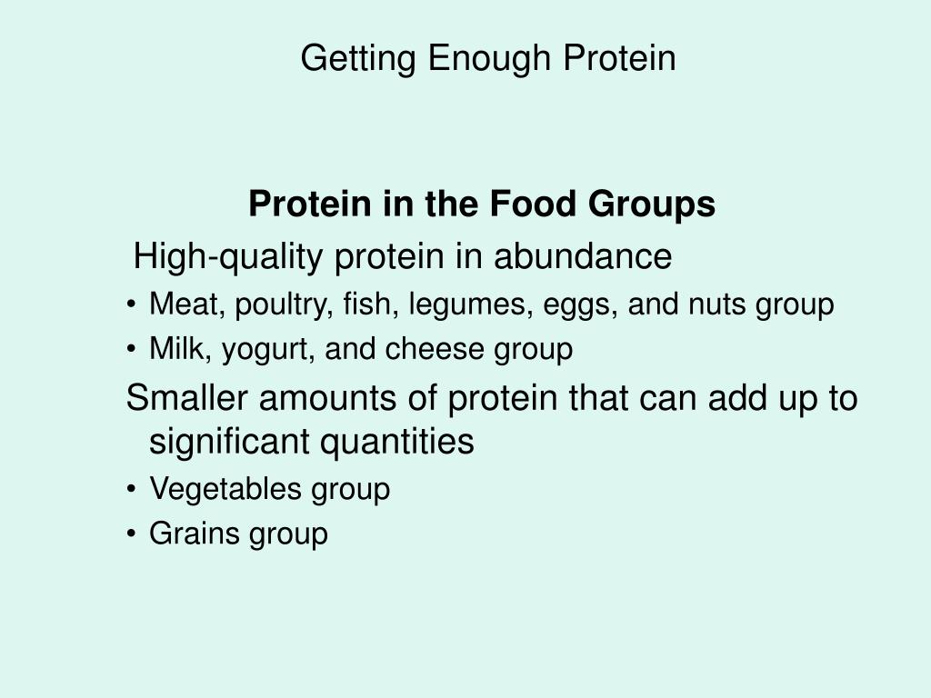 Getting Enough Protein