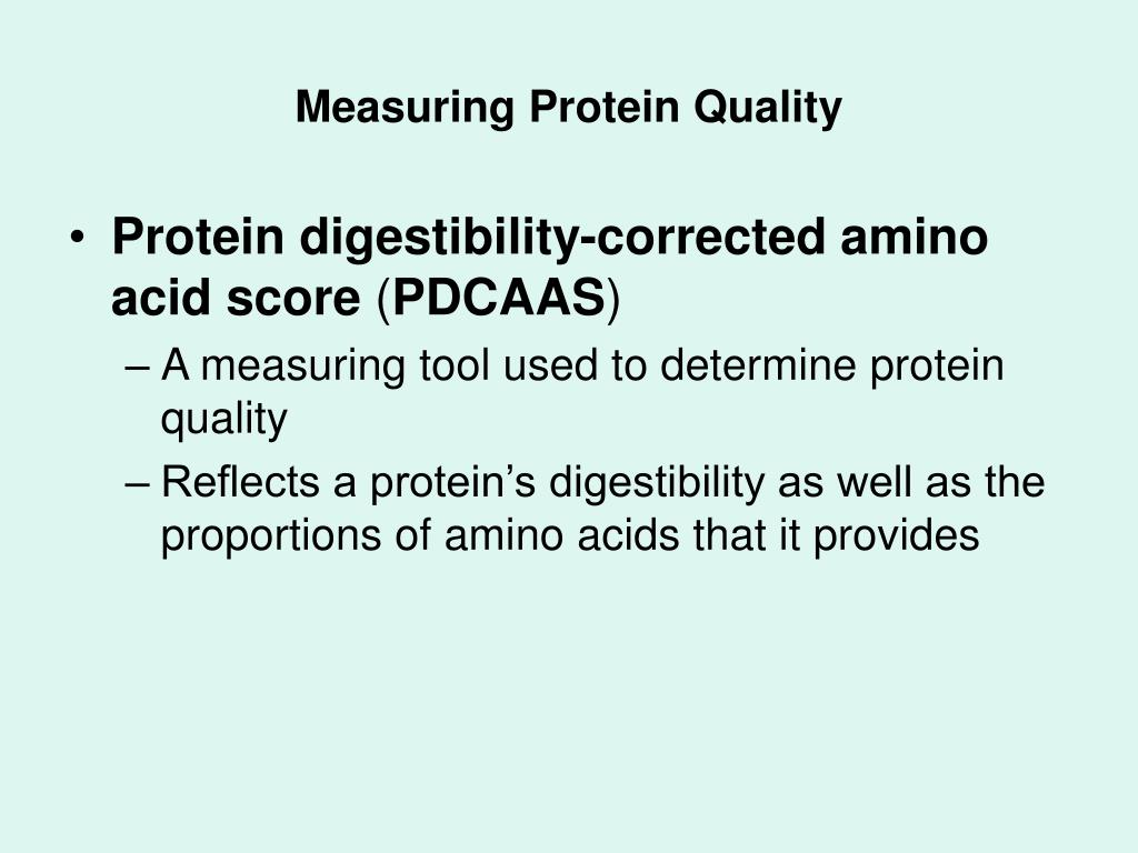Measuring Protein Quality