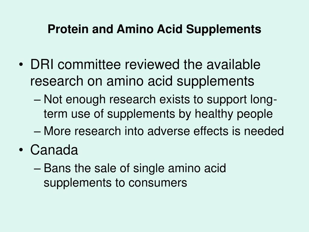 Protein and Amino Acid Supplements