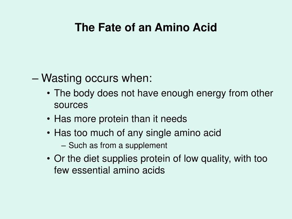 The Fate of an Amino Acid