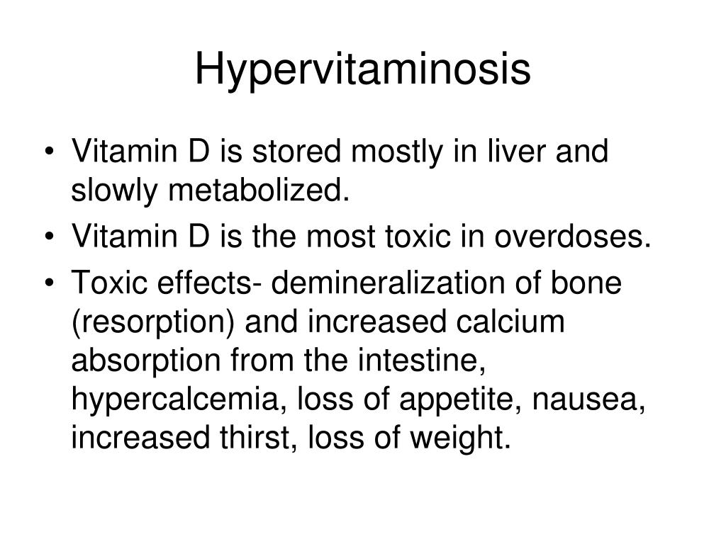 Hypervitaminosis