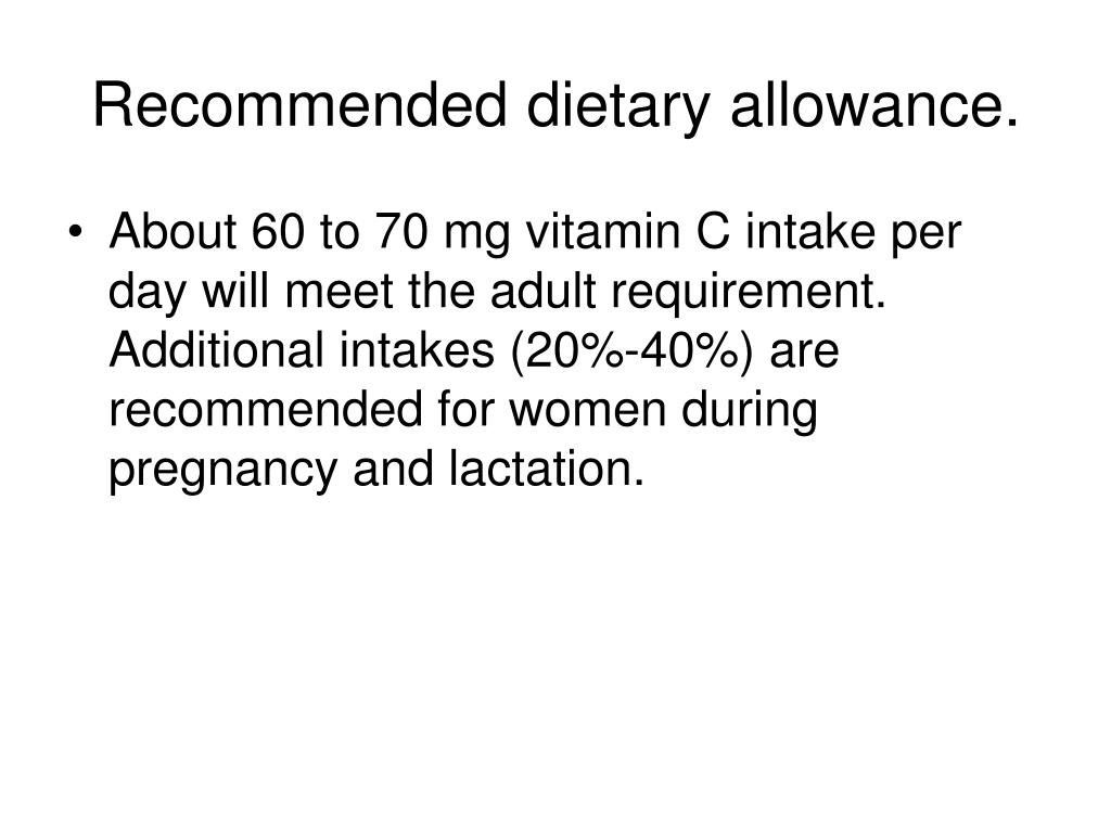 Recommended dietary allowance.
