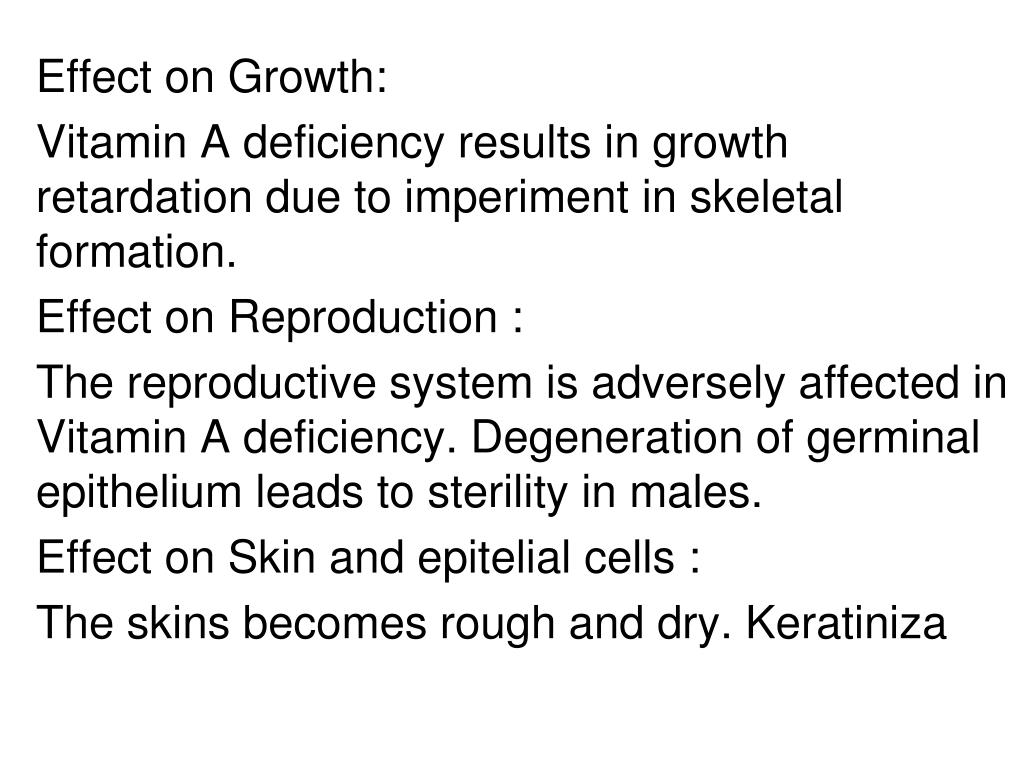 Effect on Growth: