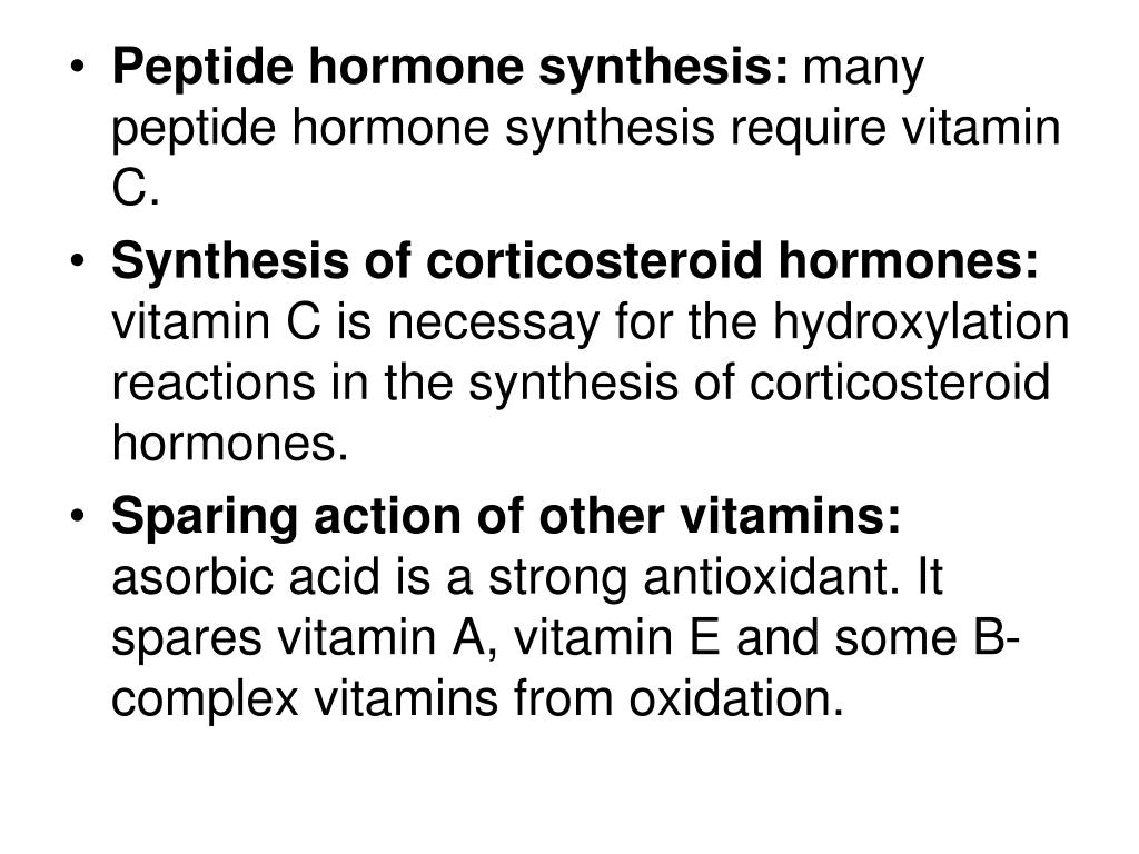 Peptide hormone synthesis: