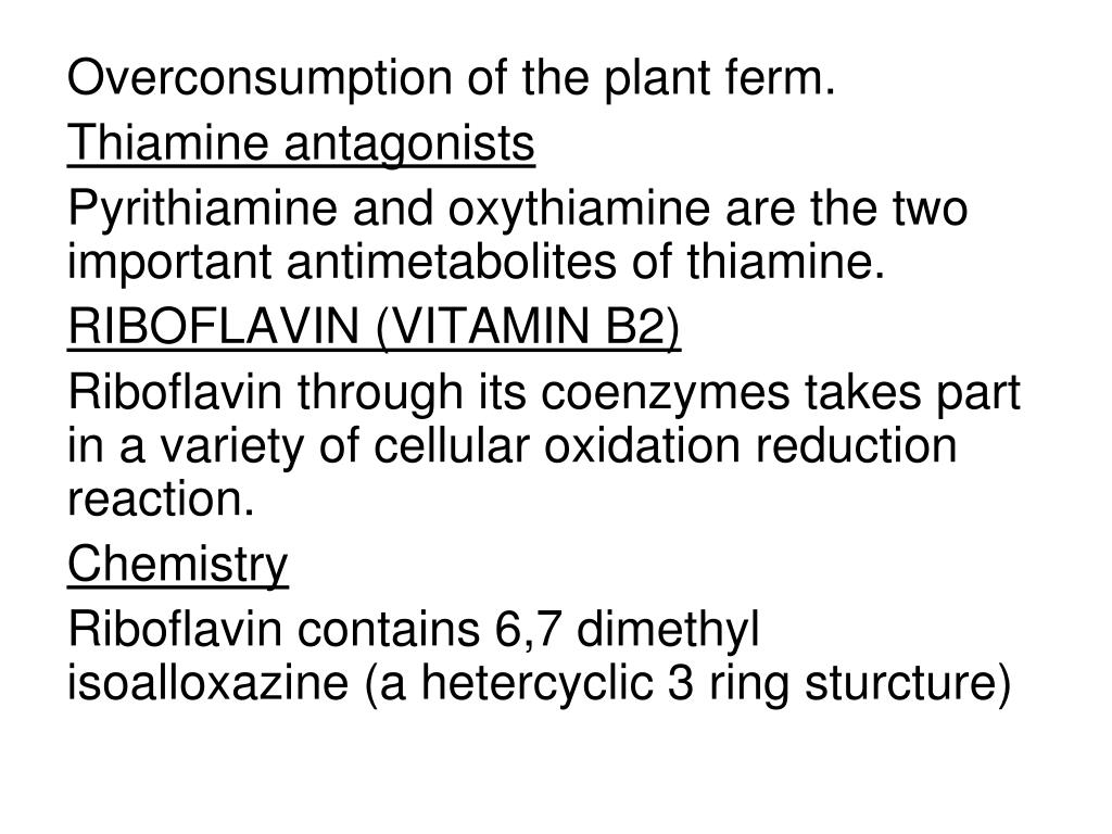 Overconsumption of the plant ferm.