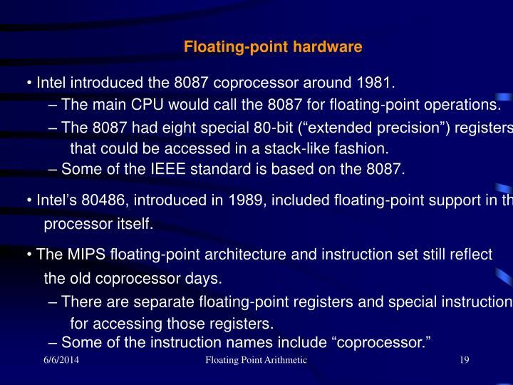 Floating-point hardware