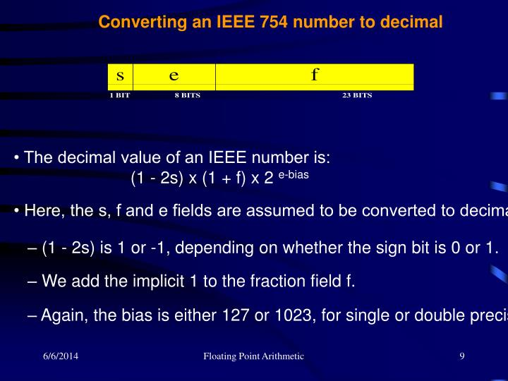 Converting an IEEE 754 number to decimal