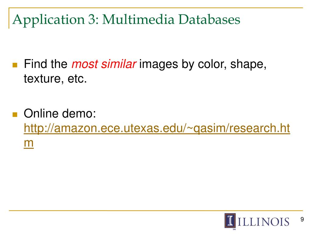 Application 3: Multimedia Databases