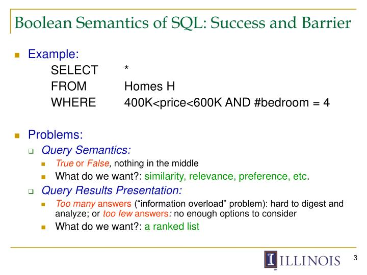 Boolean semantics of sql success and barrier