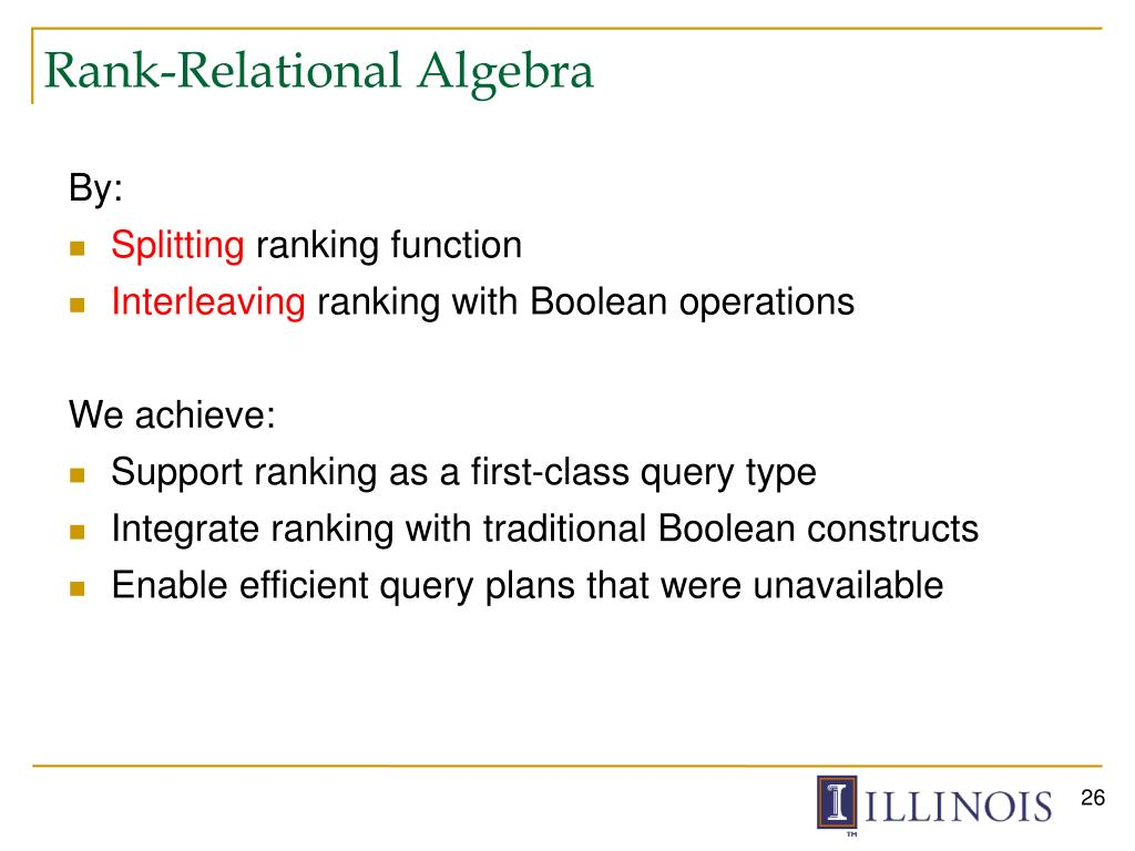 Rank-Relational Algebra