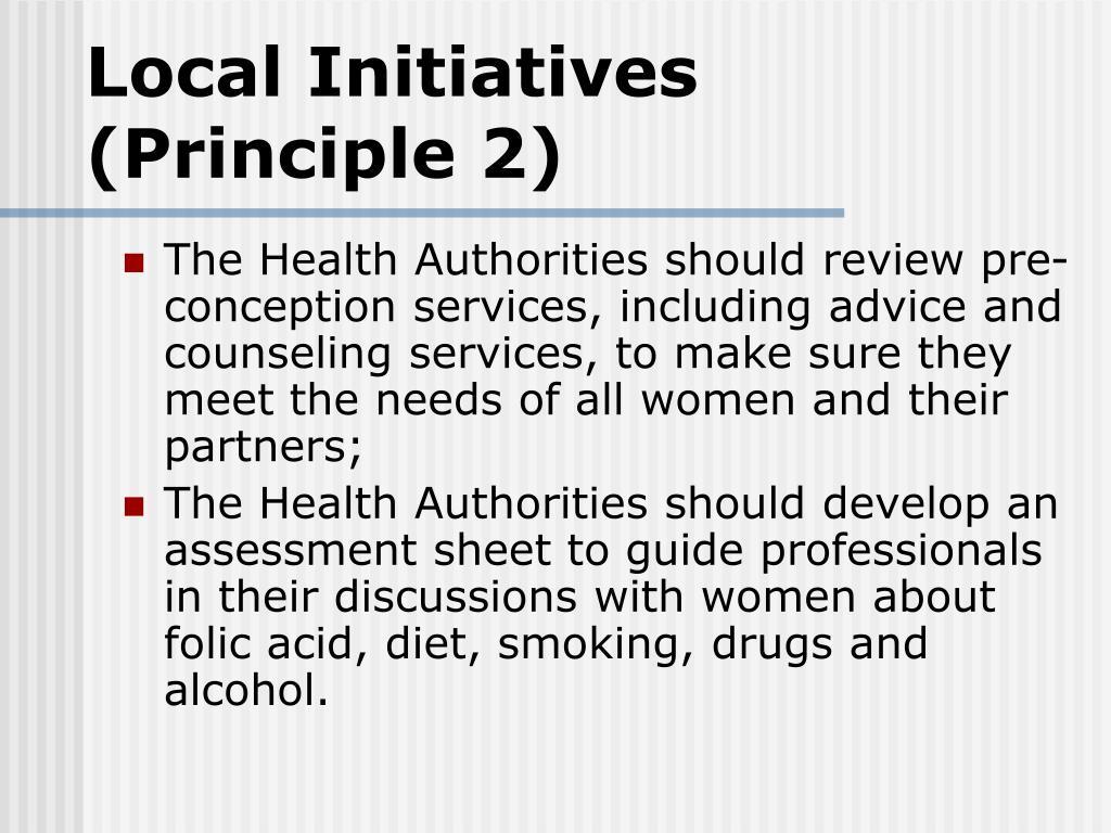 Local Initiatives (Principle 2)
