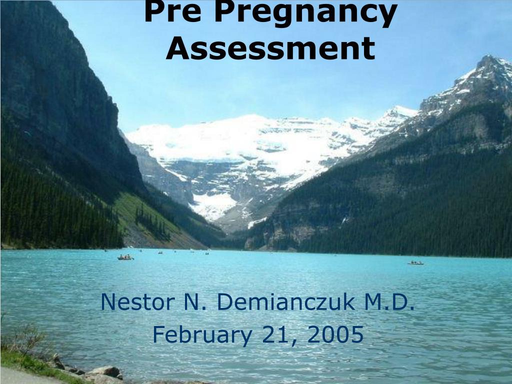 Pre Pregnancy Assessment