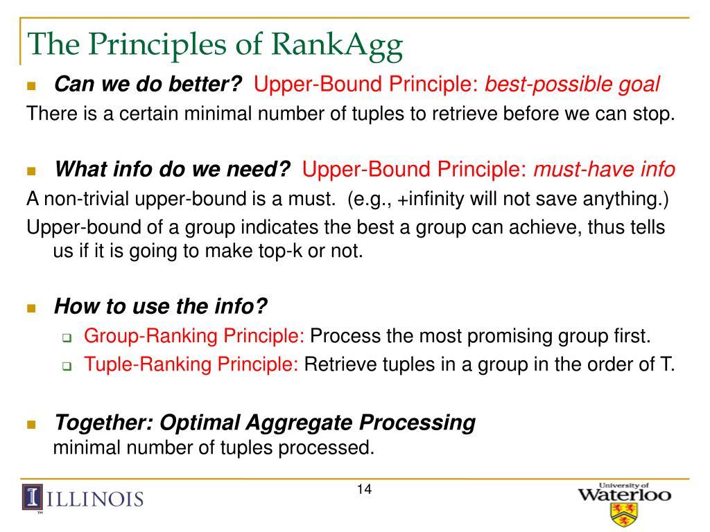 The Principles of RankAgg