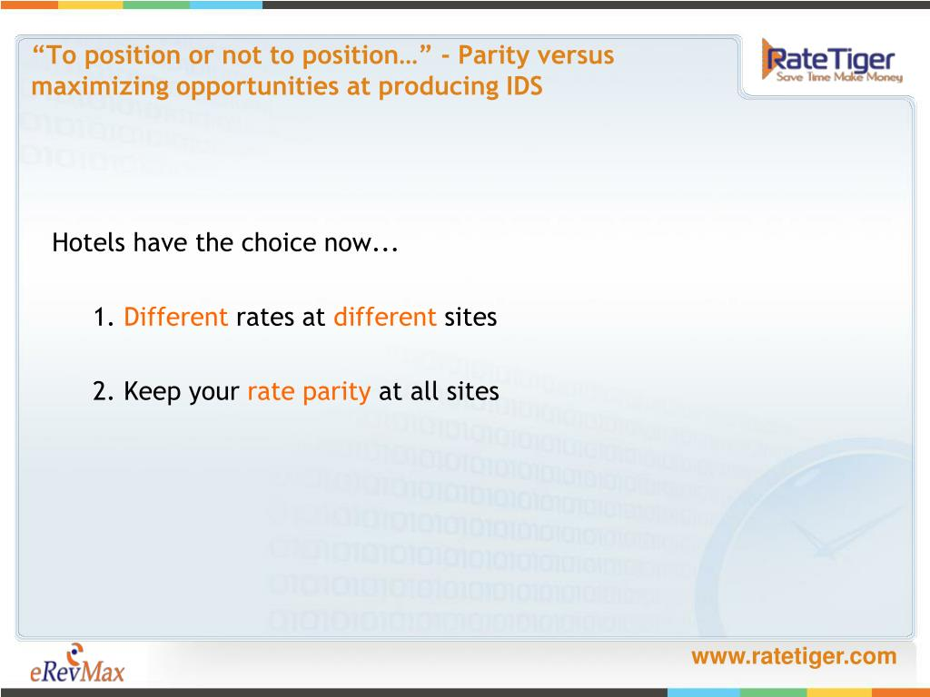 """To position or not to position…"" - Parity versus"