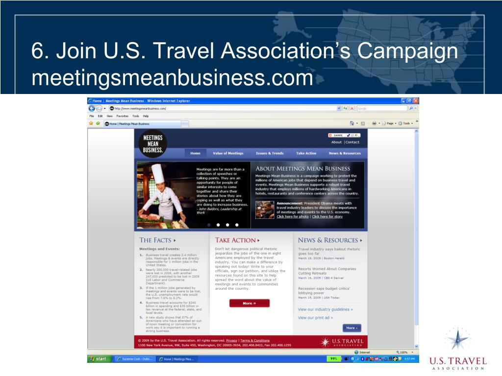 6. Join U.S. Travel Association's Campaign