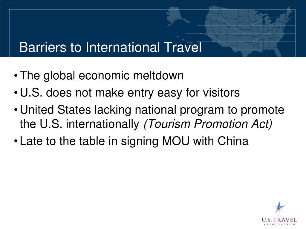 Barriers to International Travel