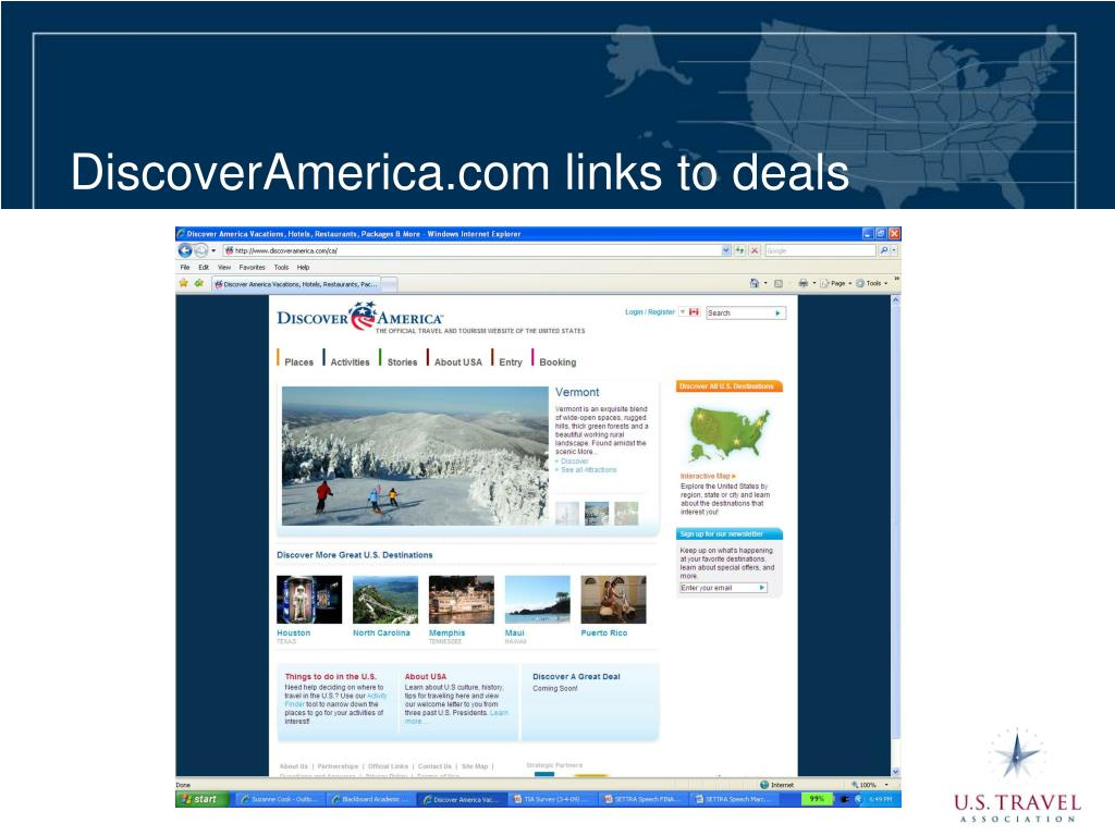 DiscoverAmerica.com links to deals