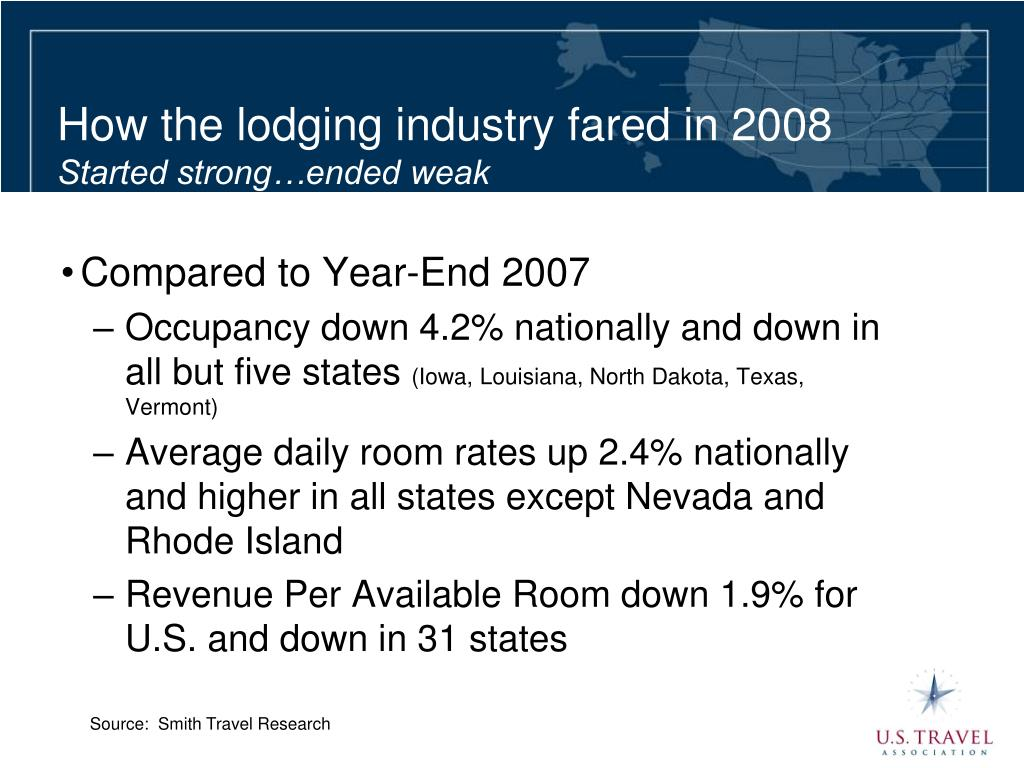 How the lodging industry fared in 2008
