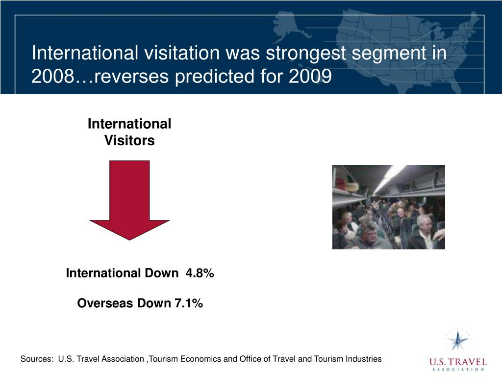 International visitation was strongest segment in 2008…reverses predicted for 2009