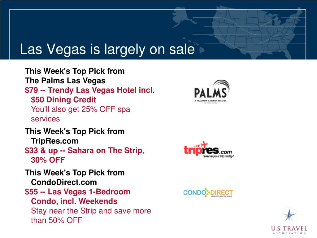 Las Vegas is largely on sale