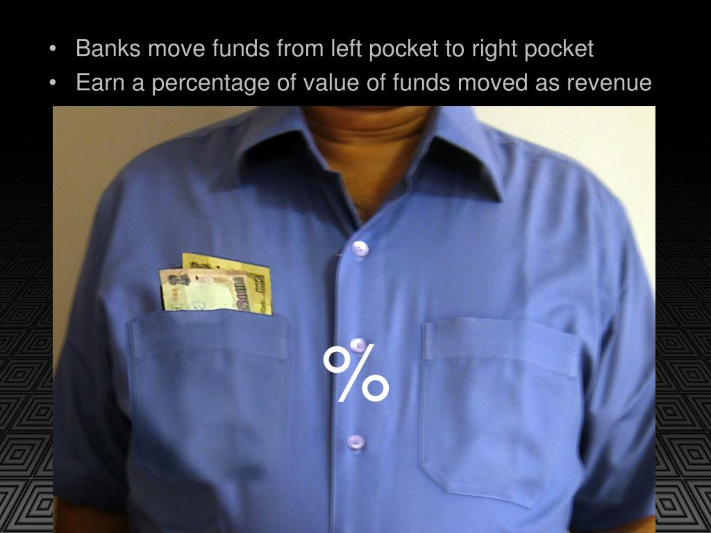 Banks move funds from left pocket to right pocket