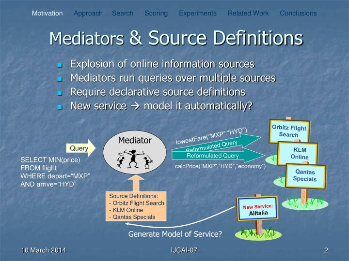 Mediators source definitions