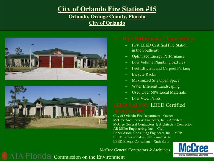 City of orlando fire station 15 orlando orange county florida city of orlando