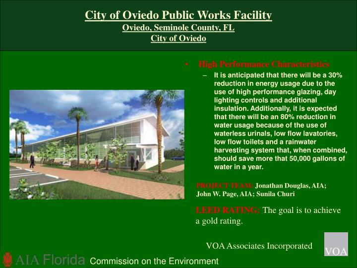 City of Oviedo Public Works Facility