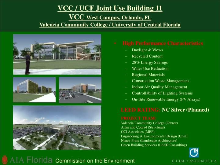 VCC / UCF Joint Use Building 11