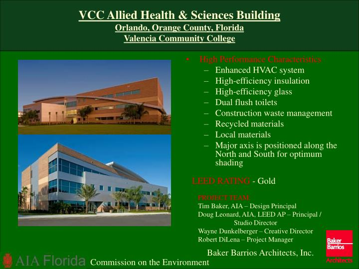 VCC Allied Health & Sciences Building