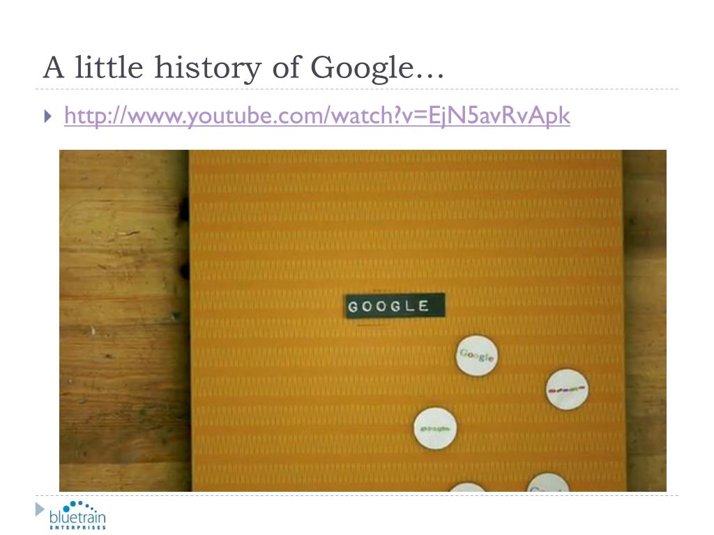 A little history of Google…