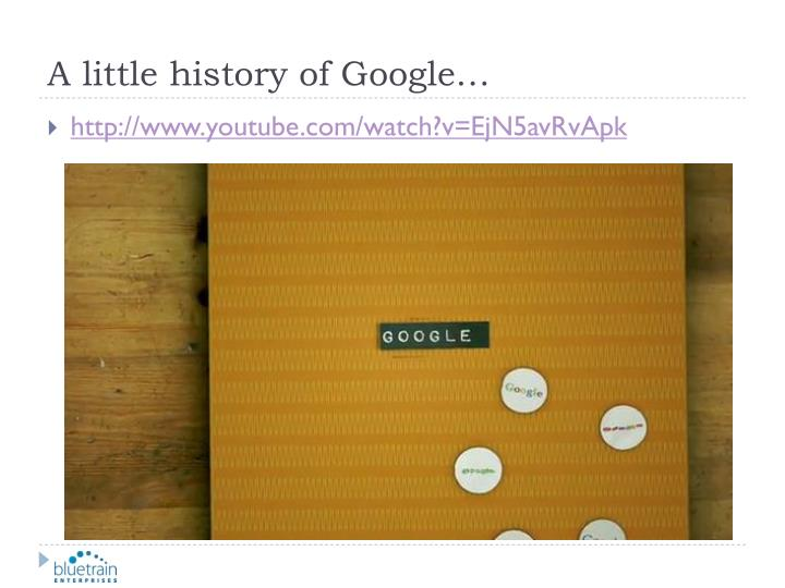 A little history of google